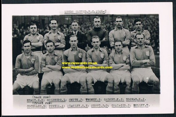 1946 Leeds United photocard by Wilkes
